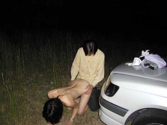 野外セックス画像 11