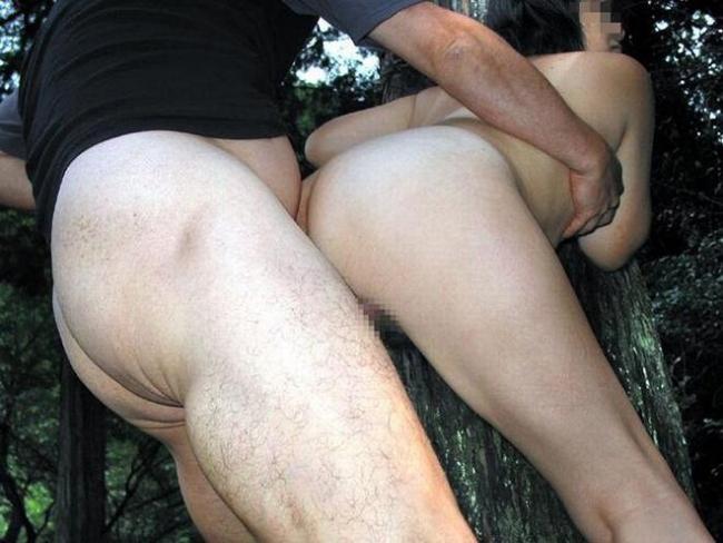 野外セックス画像 17