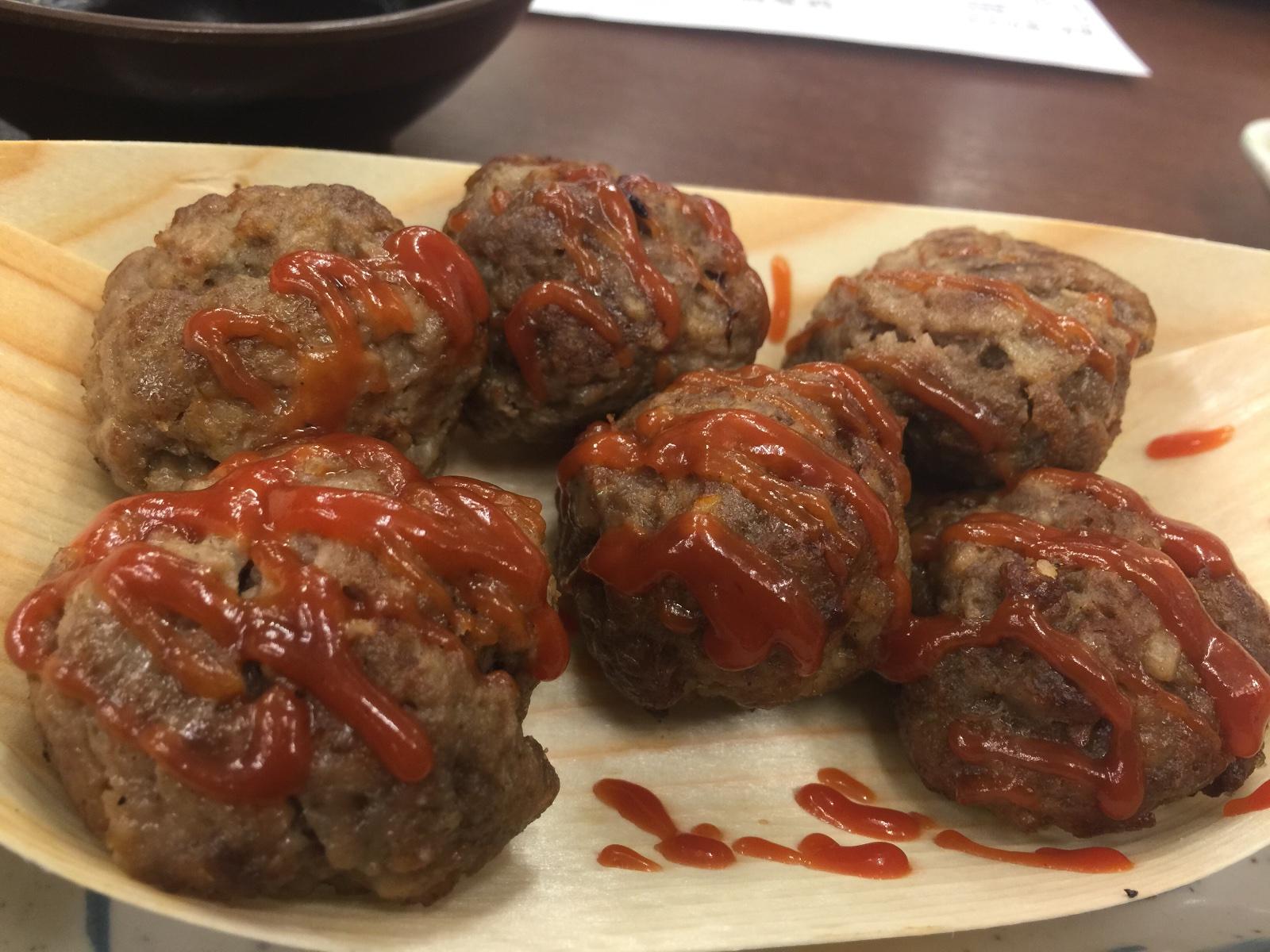 串カツと自分で焼くタコ焼き新世界味の大丸大丸焼きハンバーグ