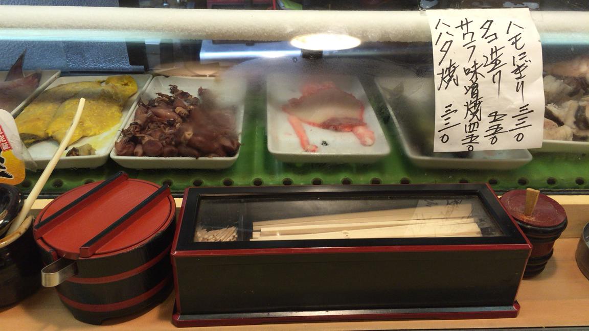新世界じゃんじゃん横丁の寿司屋【佐兵衛すし】本店ネタ