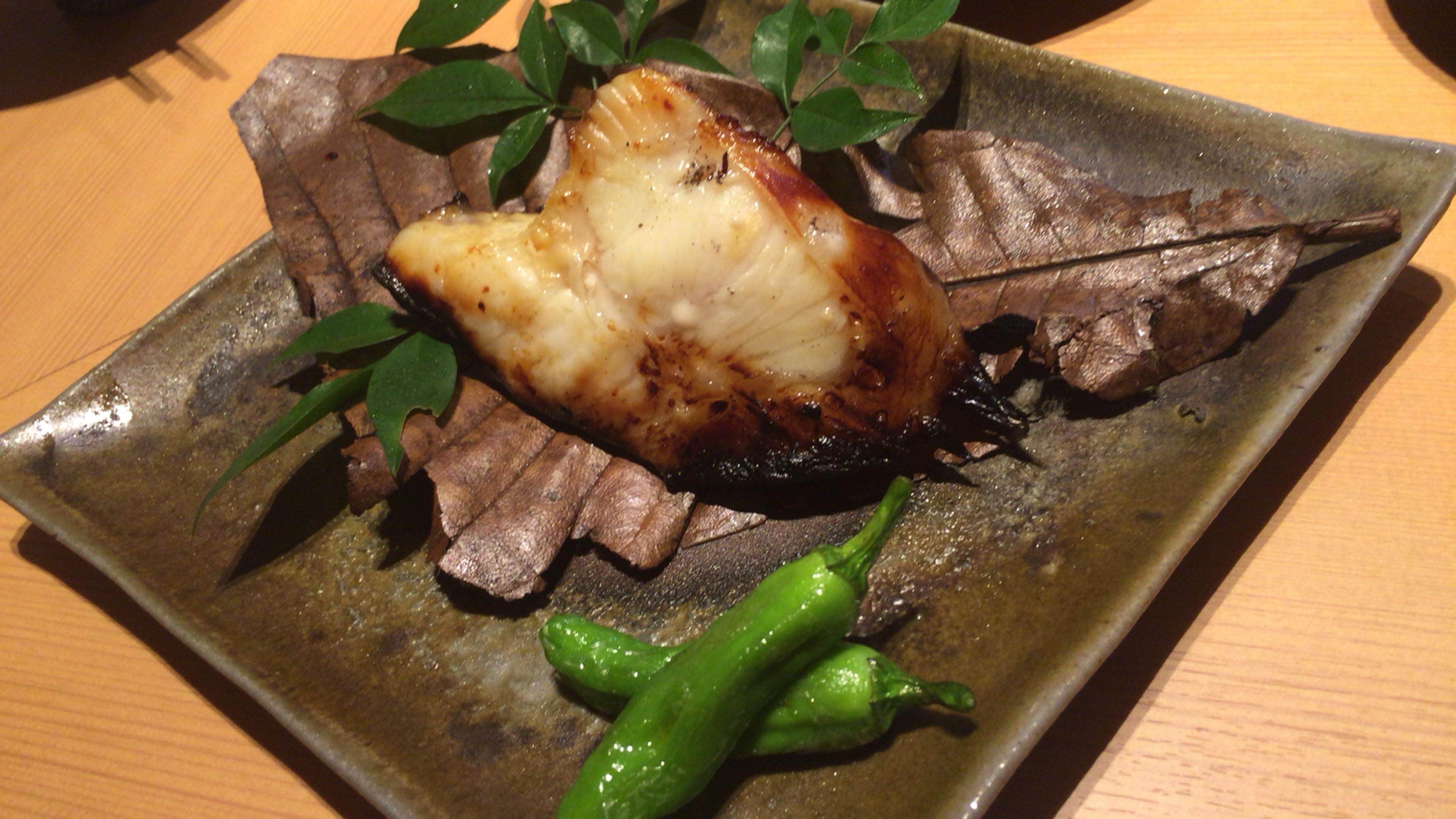 大阪ミナミの宗衛門町にある小料理・割烹『旬草hide』サメカレイの西京焼き