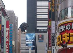 新宿にゴジラ
