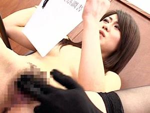 【美瀬純】裁判中に透明タイツの男にSEXされながら調書を読み上げる美人弁護士に中出し