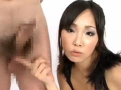 水嶋あい(杏紅茶々)が淫語タップリで目隠しM男の乳首とチンポをネットリ責めます!
