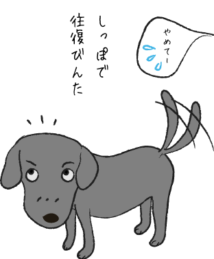 尻尾を振る犬