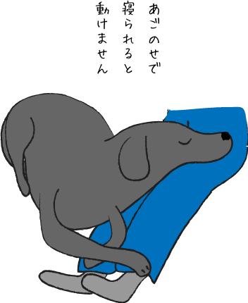 あごのせをする犬