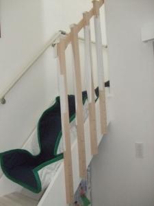 木製フェンス 仮組み