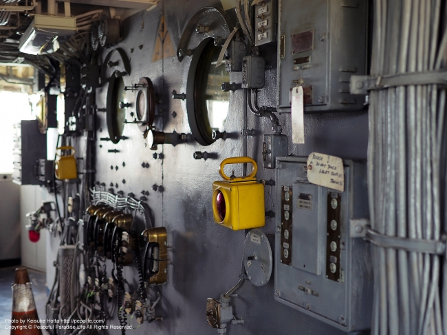 戦艦ミズーリの中の壁
