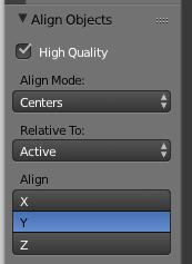 Align Modeなどの設定