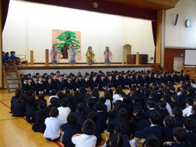 4年生の謡と仕舞で開会