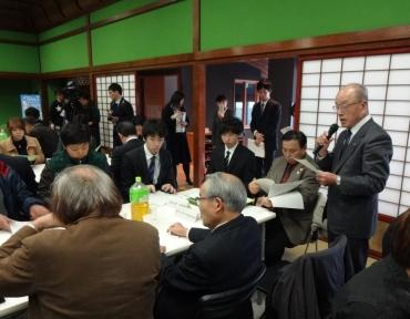 石野東浅川町連会長の協定書読み上げ